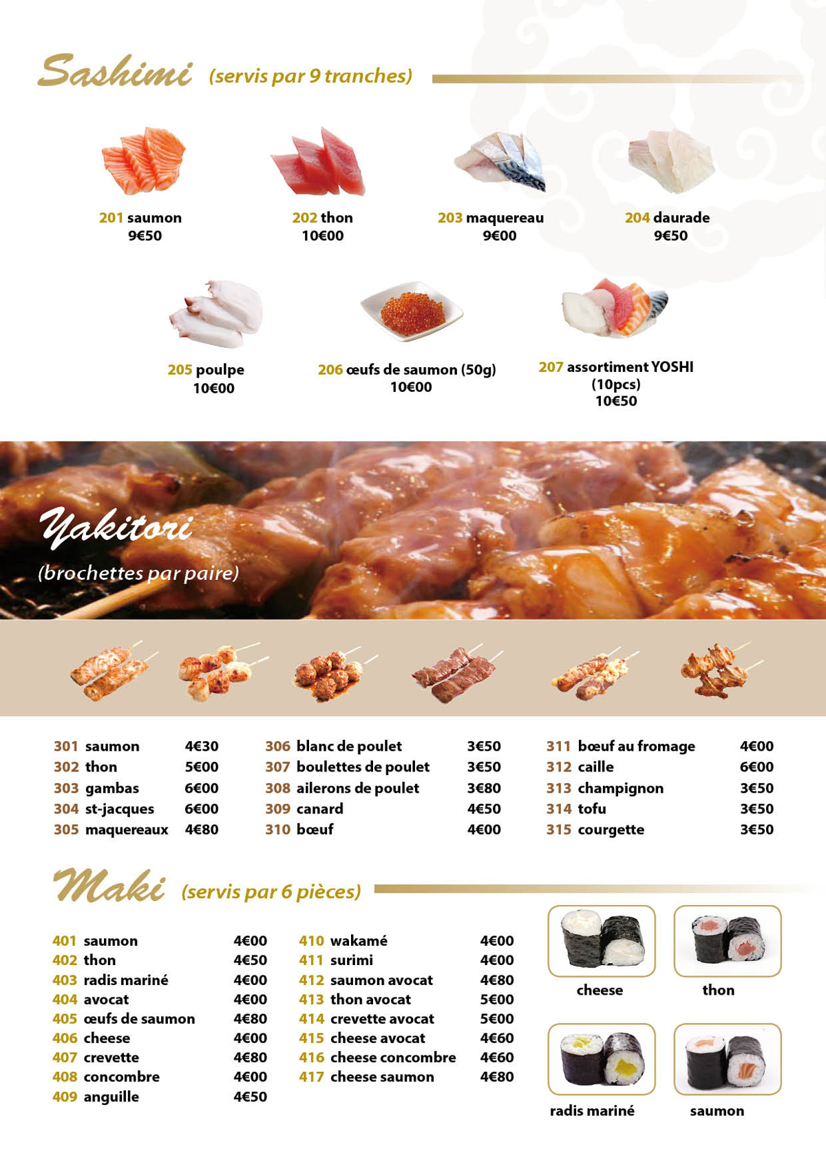 sashimi&yakitori&maki